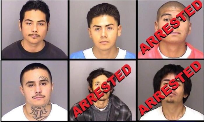 Three escaped inmates have been arrested after six fugitives escaped Merced County Downtown Jail in California, on Jan. 10, 2021. (Courtesy of Merced County Sheriff's Office)