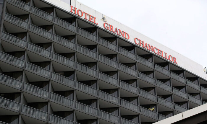 A general view of the Grand Chancellor Hotel on January 08, 2021 in Brisbane, Australia. (Jono Searle/Getty Images)