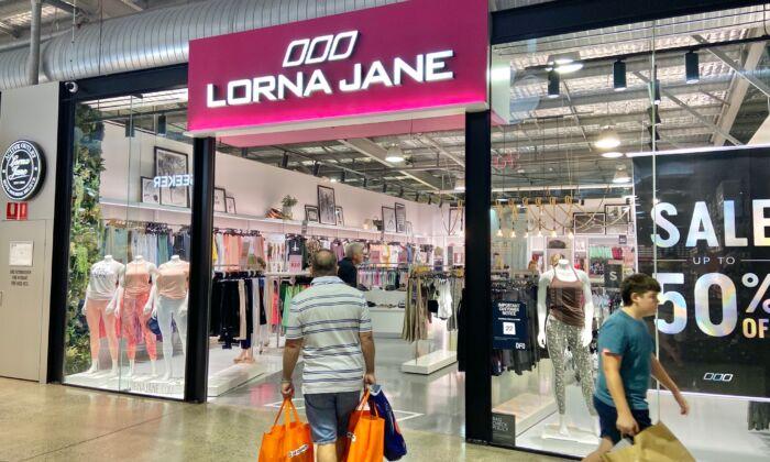 A Lorna Jane store at DFO Brisbane Airport in Brisbane, Australia, on Jan 1, 2021. (Daniel Teng/The Epoch Times)