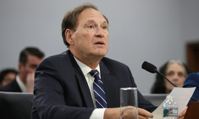 Supreme Court Associate Justice Samuel Alito on Capitol Hill in Washington on March 7, 2019. (Chip Somodevilla/Getty Images)