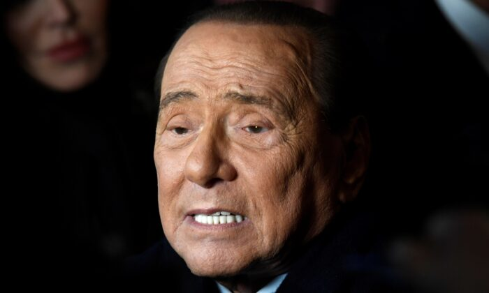 Former Italian Prime Minister and leader of the Forza Italia (Go Italy!) party Silvio Berlusconi attends a rally ahead of a regional election in Emilia-Romagna, in Ravenna, Italy, Jan. 24, 2020. (Flavio Lo Scalzo/Reuters)