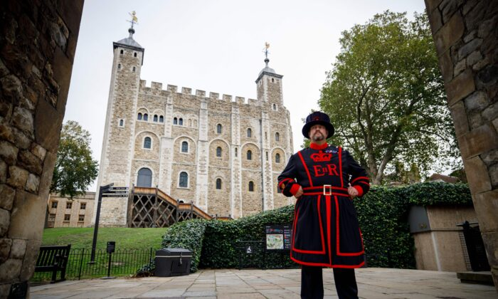Yeoman Warder Ravenmaster Chris Skaife poses for a portrait at the Tower of London in central London on Oct. 12, 2020. - (Tolga Akmen/AFP via Getty Images)