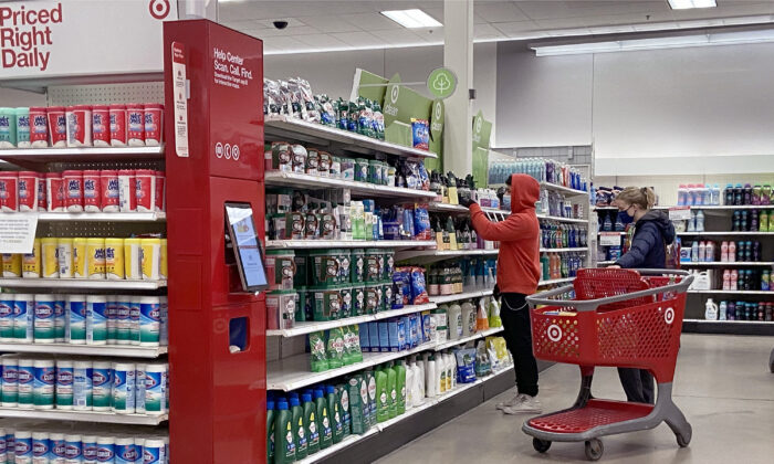 Customers shop at a Target store in Chicago, Illinois, on Jan. 13, 2021. (Scott Olson/Getty Images)