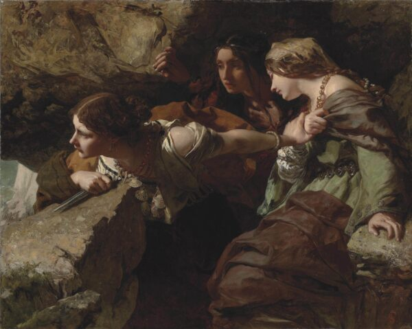 James_Sant_-_Courage,_Anxiety_and_Despair_-_Watching_the_Battle_