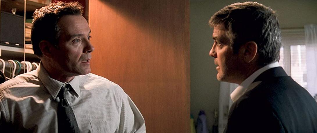 "two men talking in ""Michael Clayton"""