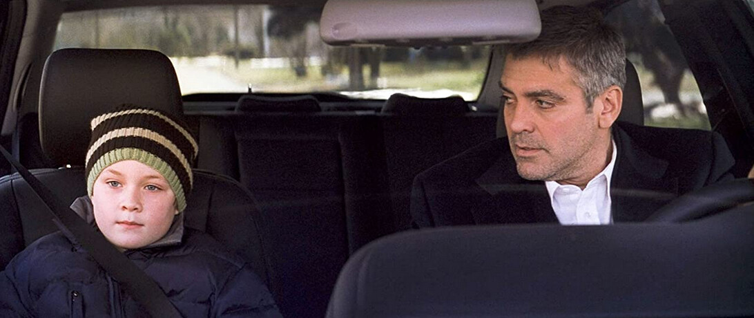 """father and son in a car in """"Michael Clayton"""""""