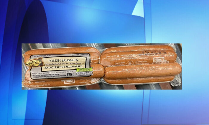 Harvest Meats is recalling a brand of Polish sausages due to undercooking that may make them unsafe to eat. (Canadian Food Inspection Agency)