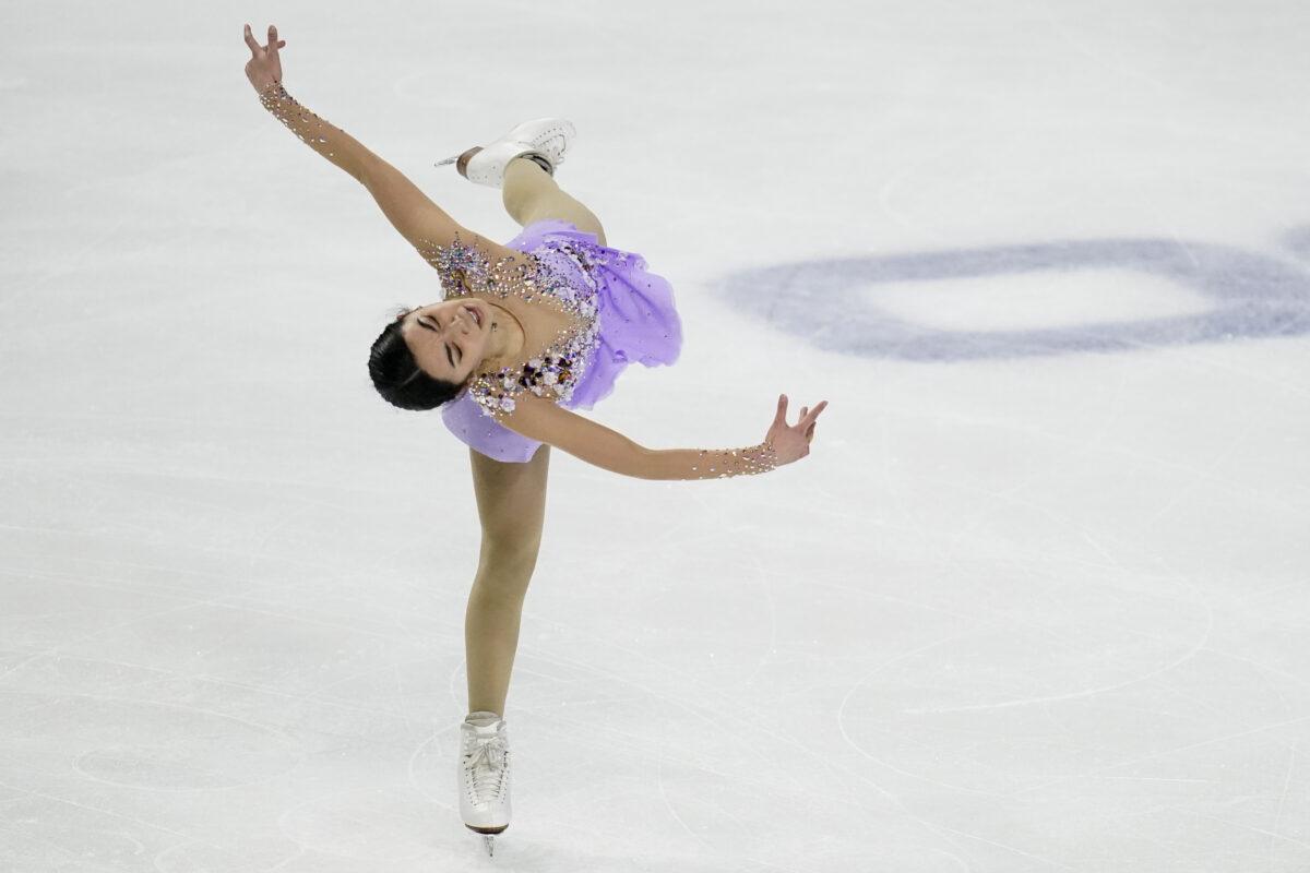 Karen Chen performs at US national
