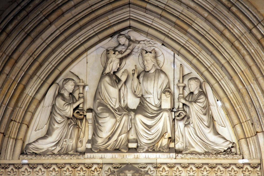 Paris,,France,-,Nov,06,,2012:,Mary's,Coronation,,Tympanum,Of