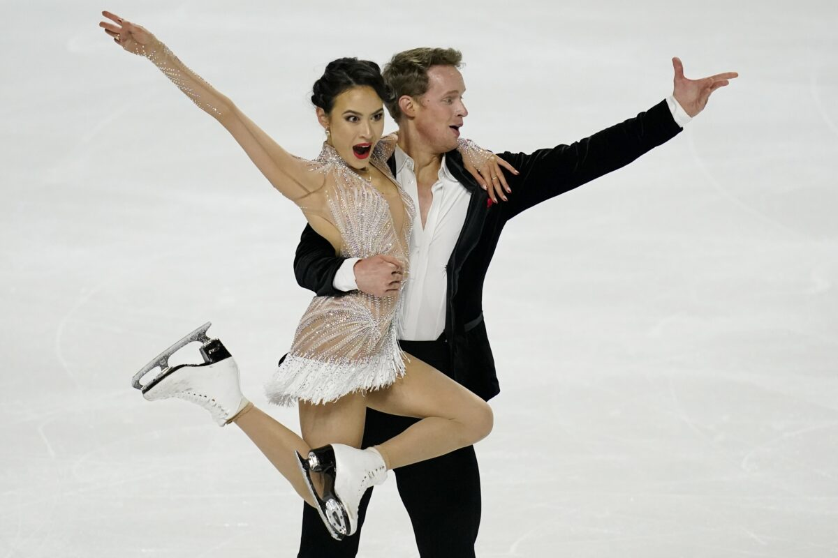 Madison and Evan perform in US nationals