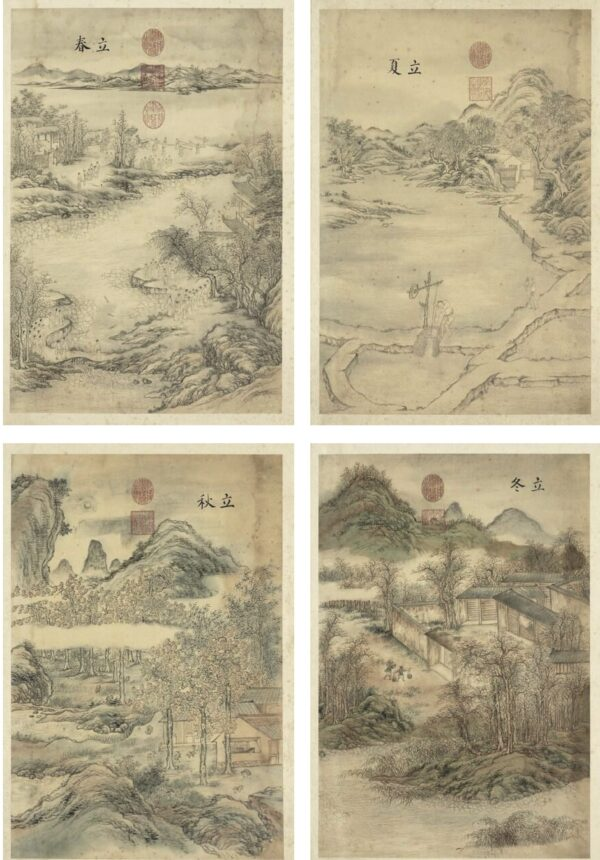 four paintings of Chinese solar year_