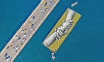 Artist Paints the World's Largest Human Chain Mural Across 5 Continents
