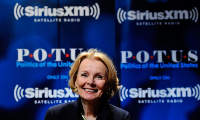 Peggy Noonan at SiriusXM Studio in Washington, on Nov. 18, 2015.  (Larry French/Getty Images for SiriusXM)