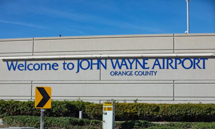 John Wayne Airport, in Santa Ana, Calif., on Dec. 30, 2020. (John Fredricks/The Epoch Times)