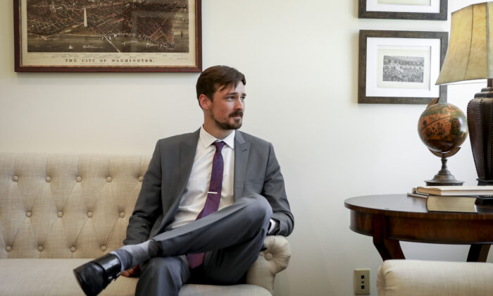 Then-Parler CEO John Matze in Washington on June 11, 2019. (Samira Bouaou/The Epoch Times)