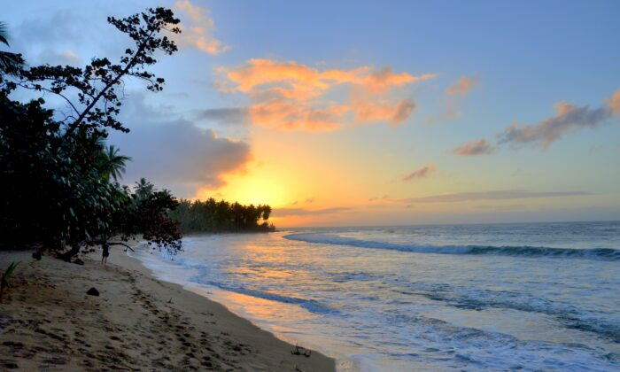 A sunset along the beach at luxury resort Sublime Samaná. (Kevin Revolinski)