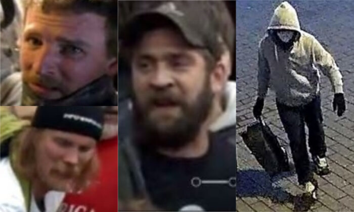 Suspects in crimes committed in Washington on Jan. 6, 2021. (FBI)
