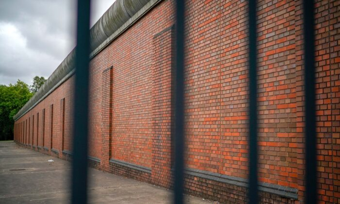 General view through the bars of a prison in England on Aug. 20, 2018.  (Christopher Furlong/Getty Images)