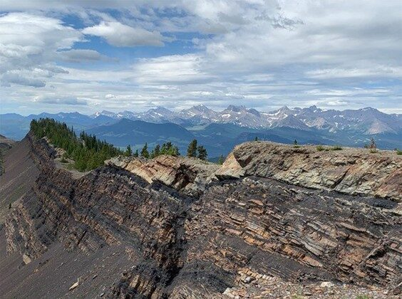 Grassy Mountain, Alberta, looking southwest. (The Canadian Press/HO-Riversdale Resources)