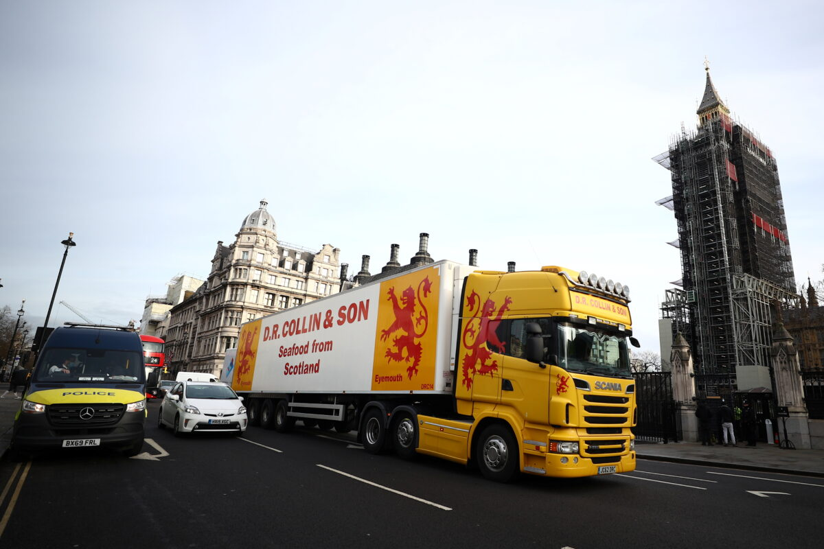 Brexit fisheries lorry protest