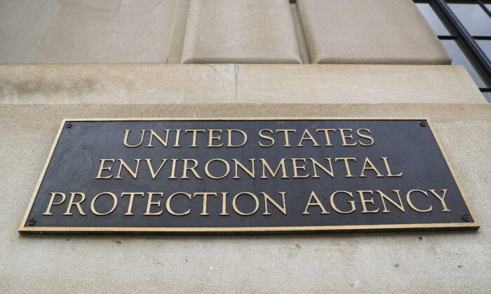 A sign of the Environmental Protection Agency (EPA) is seen at its building in Washington on Sept. 21, 2017. (Pablo Martinez Monsivais/AP Photo)