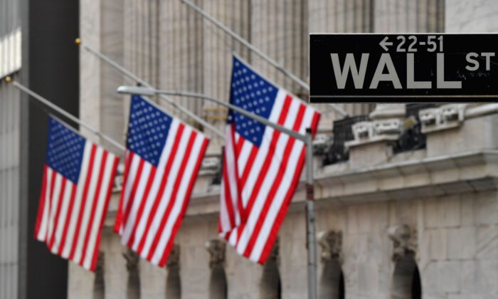 New York Stock Exchange (NYSE) at Wall Street in New York City, on Jan. 12, 2021. (Angela Weiss/AFP via Getty Images)