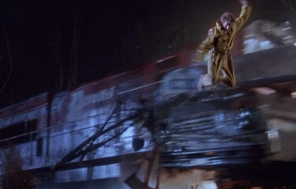 "man jumps from train in ""The Fugitive"""