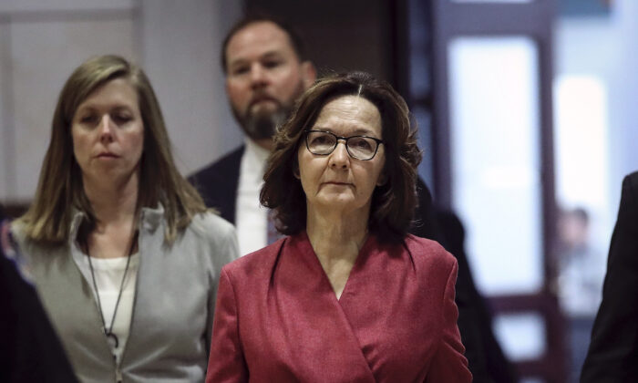 CIA Director Gina Haspel arrives for a briefing with members of the U.S. House of Representatives about the situation with Iran, at the U.S. Capitol in Washington, on Jan. 8, 2020. (Drew Angerer/Getty Images)