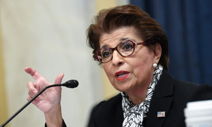 Jovita Carranza, administrator U.S. Small Business Administration, testifies during the Senate Small Business and Entrepreneurship Hearings in Washington on June 10, 2020. (Kevin Dietsch - Pool/Getty Images)