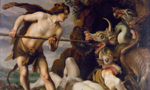 Fearless Cadmus on a Divine Path: 'Cadmus Slays the Dragon'