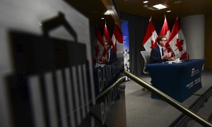 Bank of Canada Governor Tiff Macklem takes part in a news conference at the Bank of Canada in Ottawa on Dec. 15, 2020. (Sean Kilpatrick/The Canadian Press)
