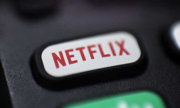 Photo shows a logo for Netflix on a remote control in Portland, Ore. on Aug. 13, 2020. (Jenny Kane/AP Photo)