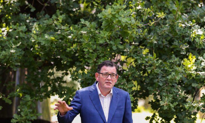 Premier of Victoria Daniel Andrews in Melbourne, Australia Jan. 14, 2021. (Asanka Ratnayake/Getty Images)