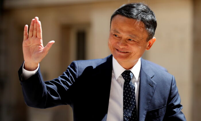 "Jack Ma, chairman of Alibaba Group arrives at the ""Tech for Good"" Summit in Paris, on May 15, 2019. (Charles Platiau/Reuters)"