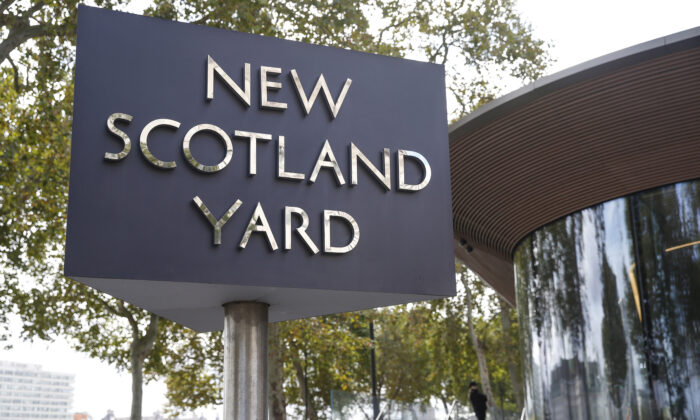 A general view of Scotland Yard in London, England, on Sept. 25, 2020.  (Hollie Adams/Getty Images)