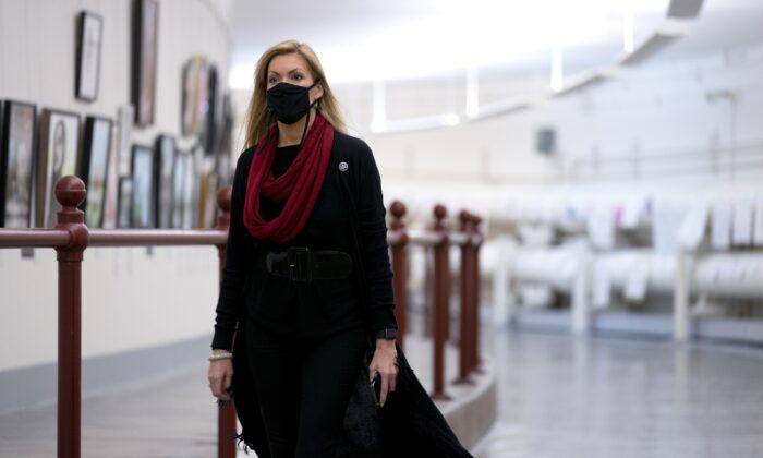 Rep. Beth Van Duyne (R-Texas) led a group of 17 House members, on Jan. 20, 2020, pledging to work with President Joe Biden on bipartisan agreements. (Stefani Reynolds/Getty Images)