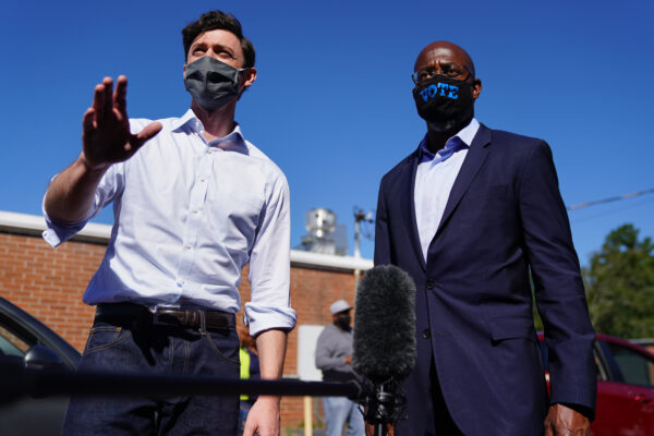 Jon Ossoff and Rev. Raphael Warnock