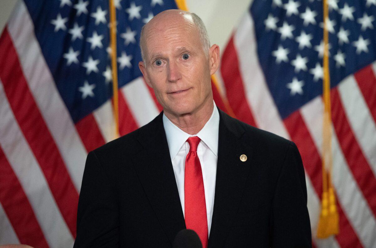 Rick Scott Says He'll Back GOP Incumbents Over Trump Challengers