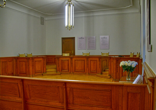 courtroom of Sophie Scholl trial
