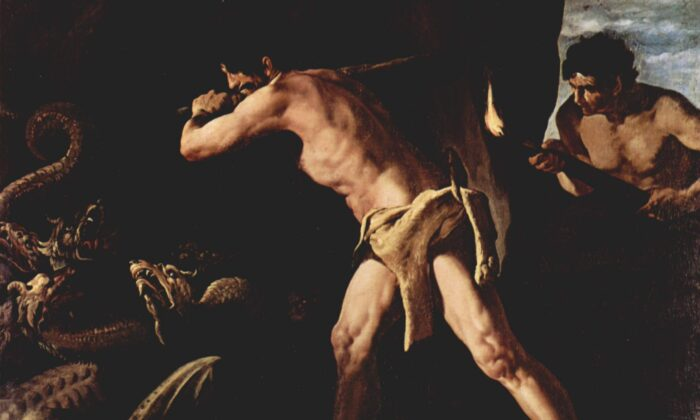 """Hercules and the Hydra,"" 1634, by Francisco de Zurbarán. (Public Domain)"