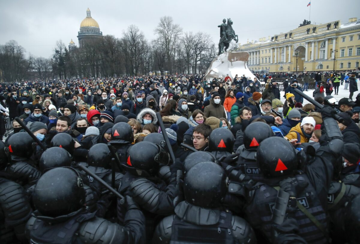3,400 protester arrested in Moscow
