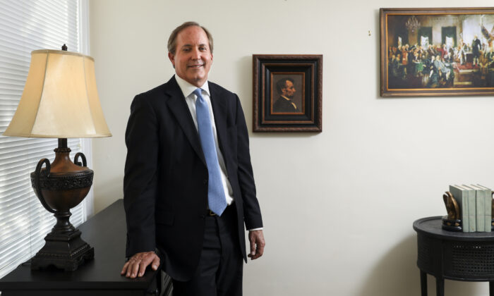 Texas Attorney General Ken Paxton in Washington on May 20, 2019. (Samira Bouaou/The Epoch Times)