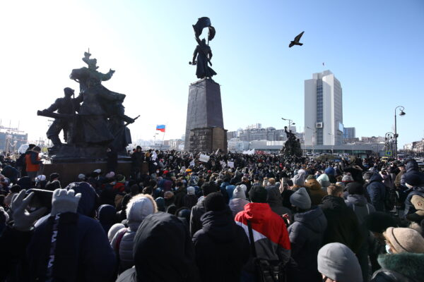 Many supporters in Russian rally