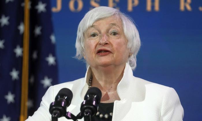 Janet Yellen, President Joe Biden's nominee to be treasury secretary, speaks in Wilmington, Del., on Dec. 1, 2020. (Leah Millis/Reuters)