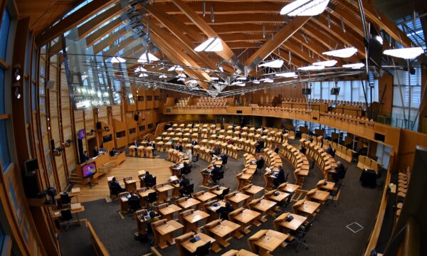 General view during the First Minister's Questions at the Scottish Parliament