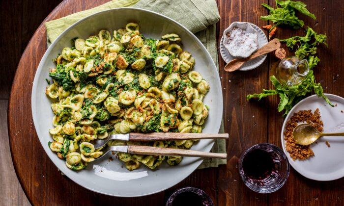 Orecchiette with broccoli rabe, or cime di rapa, is a classic Apulian dish, combining the southern region's typical pasta and most representative winter greens. (Giulia Scarpaleggia)