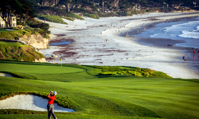 Watching matches online might keep golfers occupied until they can head to the Pebble Beach Golf Course in Northern California again. (Courtesy of Photogolfer/Dreamstime.com)