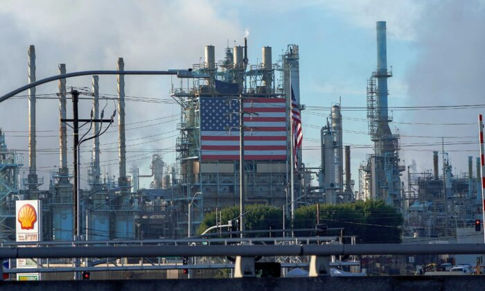General view of the Marathon petroleum refinery in Carson, Cal., on Dec. 5, 2019. (Mike Blake/Reuters)