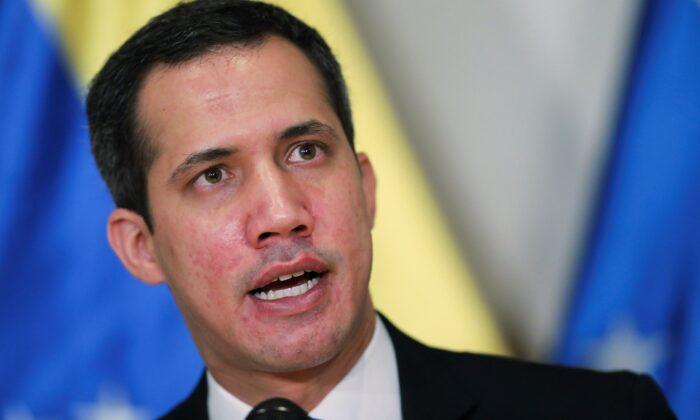 Venezuelan opposition leader Juan Guaido speaks during a news conference in Caracas, Venezuela, on Dec. 5, 2020. (Manaure Quintero/Reuters)