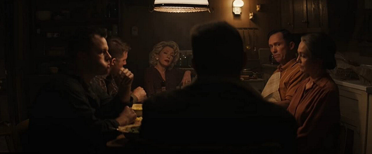 """a family dinner gathering in """"Let Him Go"""""""